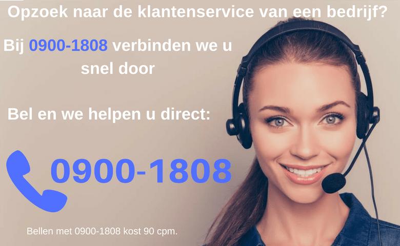 Kpn klantenservice via 0900 1808 telefoonnummer for Klantenservice sanoma