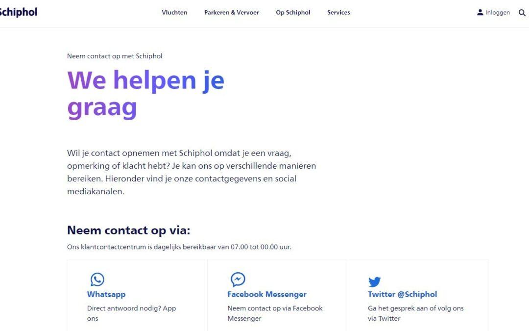 Luchthaven Schiphol – Nieuws en Hoe contact opnemen met Schiphol