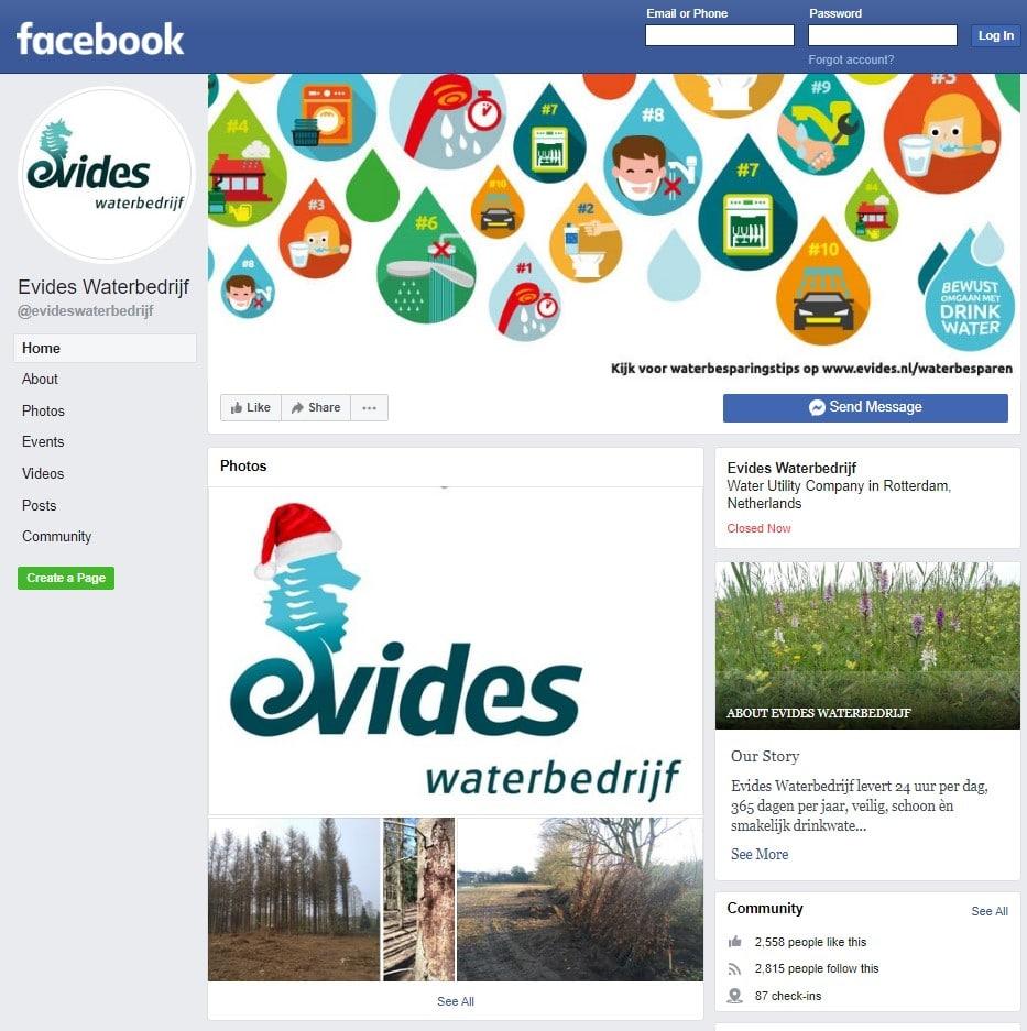 evides facebook